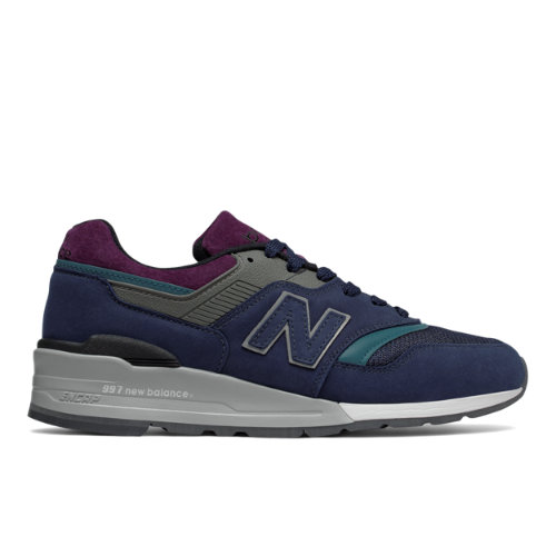 New Balance 997 Northern Lights Men's Made in USA Sneakers Shoes - Navy / Grey (M997PTB)