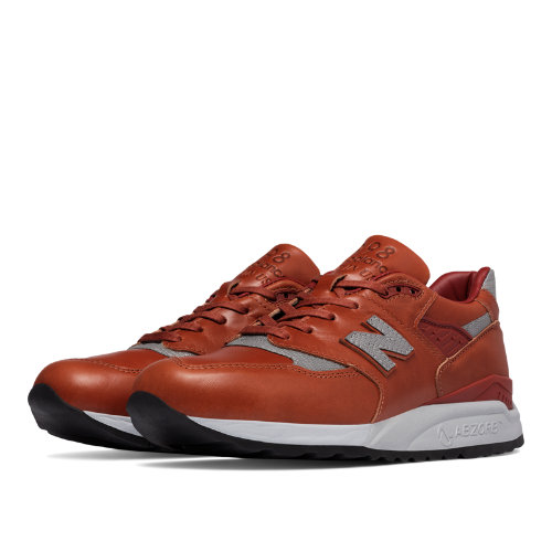 New Balance 998 Age of Exploration Men's Made in USA Shoes - Brown / Silver (M998BESP)