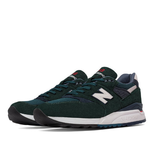 New Balance 998 Age of Exploration Men's Made in USA Shoes - Green / Navy (M998CHI)