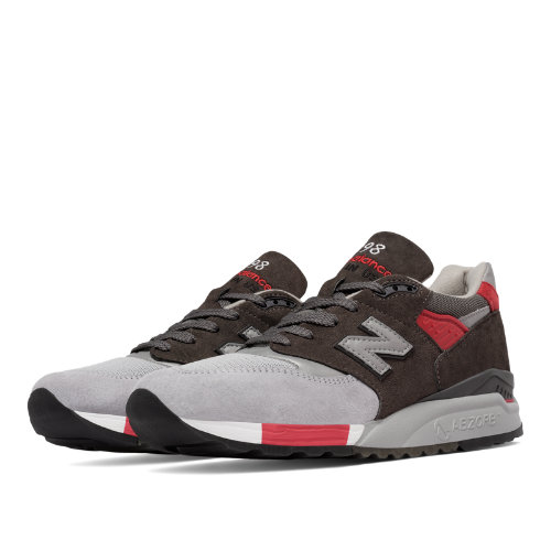 New Balance 998 Age of Exploration Men's Made in USA Shoes - Grey / Red (M998CPL)