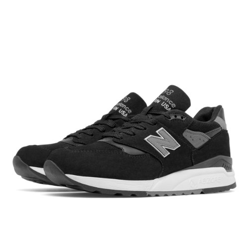New Balance 998 Men's Made in USA Shoes - Black / Grey (M998DPHO)