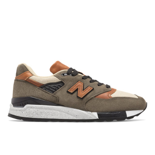 New Balance 998 Made in the USA Men's Sneakers Shoes - Brown / Military Green / Black (M998XAD)
