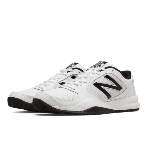 New Balance 696v2 Men's Tennis Shoes - White, Black (MC696WB2)