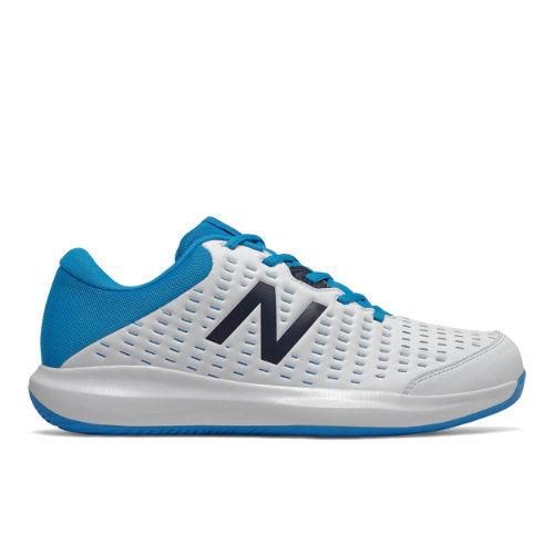 New Balance 696v4 Men's Tennis Shoes - White / Blue (MCH696R4)