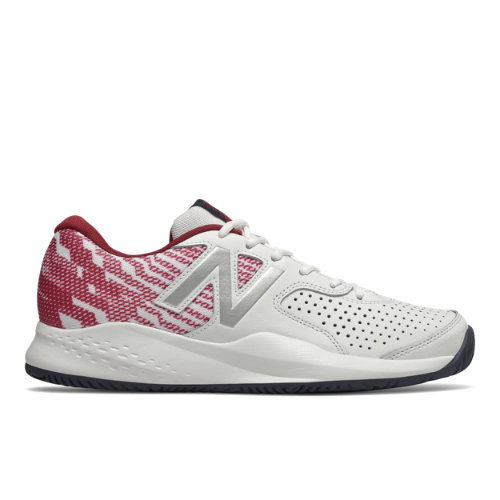 New Balance 696v3 Men's Tennis Shoes - White / Red (MCH696S3)