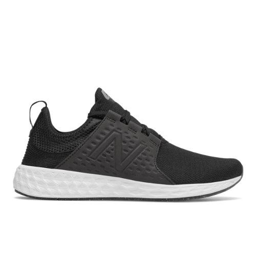 New Balance Fresh Foam Cruz Sport Men's Soft and Cushioned Running Shoes - Black / White (MCRUZSB)