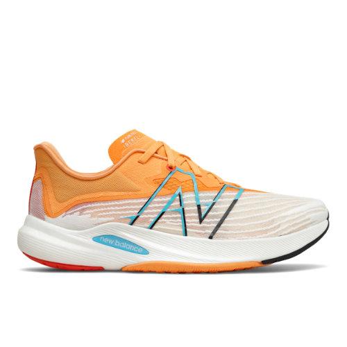 New Balance FuelCell Rebel v2 Men's Running Shoes - White / Orange (MFCXLG2)