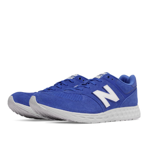 New Balance 574 Fresh Foam Suede Men's Sport Style Sneakers Shoes - Blue / White (MFL574FE)