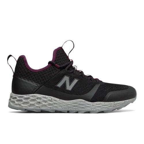 New Balance Fresh Foam Trailbuster Men's Outdoor Sport Style Sneakers Shoes - Black / Purple (MFLTBDVM)