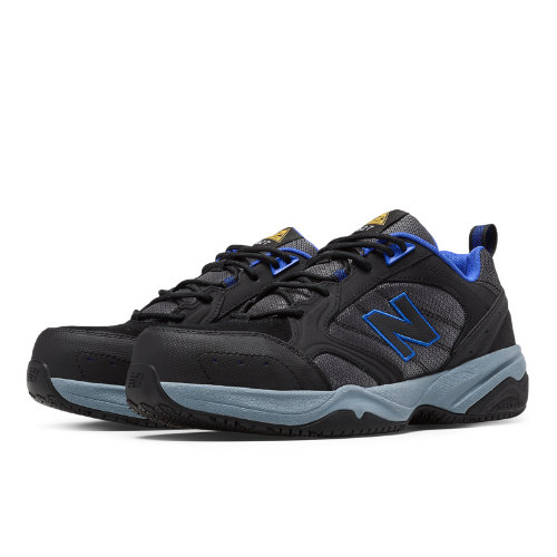 New Balance Steel Toe 627 Suede Men's Work Shoes - Black / Pacific (MID627BB)