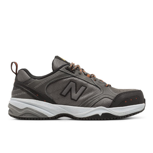 New Balance Steel Toe 627 Textile Work Shoes - Grey / Black (MID627G)