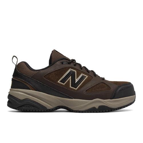 New Balance Steel Toe 627v2 Men's Work Shoes - Brown / Black (MID627O2)