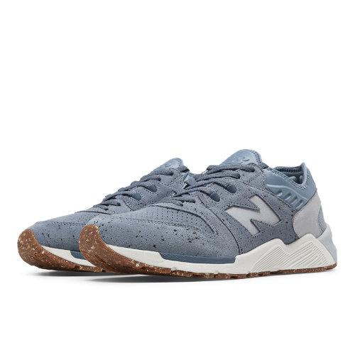 New Balance 009 Speckle Suede Men's Shoes - Blue Rain / Silver Mink (ML009PB)