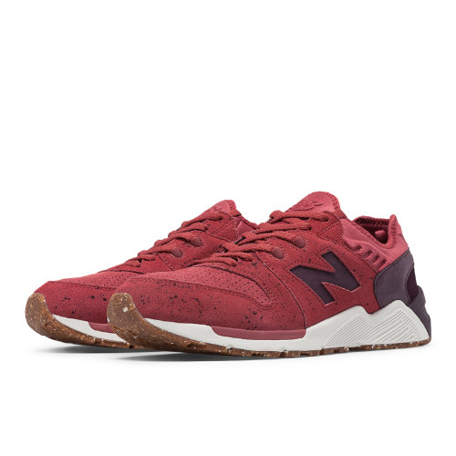 New Balance 009 Speckle Suede Men's Shoes - Clay Red / Supernova Red (ML009PN)