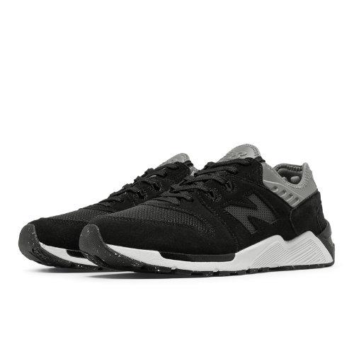 New Balance 009 Suede Men's Sport Style Sneakers Shoes - Black / Gunmetal (ML009SB)