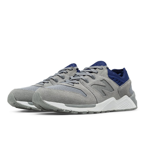 New Balance 009 Suede Men's Sport Style Sneakers Shoes - Steel / Blue (ML009SG)