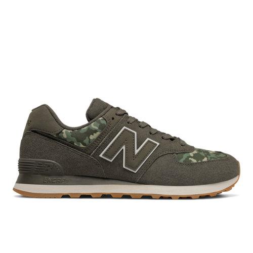 New Balance 574 Men's Running Classics Shoes - Green Camo (ML574COB)