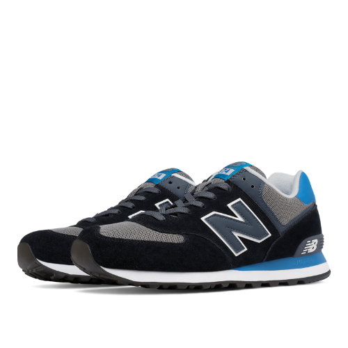 New Balance 574 Men's Shoes - Black / Blue / Grey (ML574CPU)
