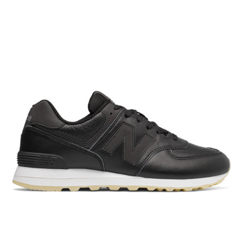 New Balance 574 Luxe Leather Men's 574 Shoes - Black (ML574DAK)