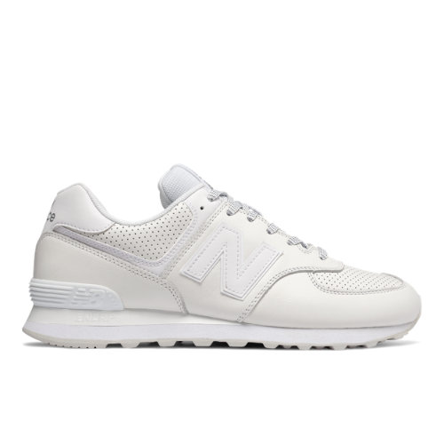 New Balance 574 Luxe Leather Men's 574 Shoes - White (ML574DAW)