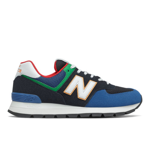 New Balance 574 Rugged Men's Lifestyle Shoes - Black / Blue (ML574DRC)