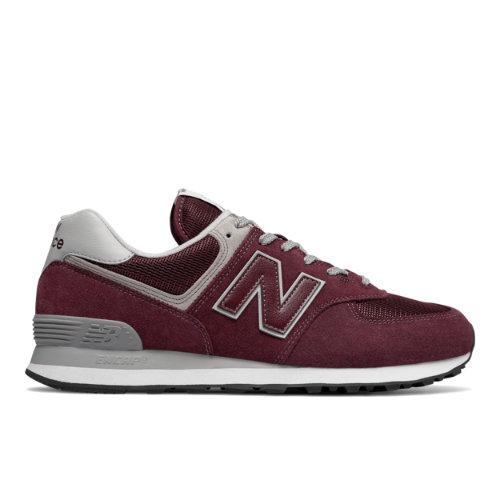 New Balance 574 Men's Sneakers Shoes - Dark Red (ML574EGB)