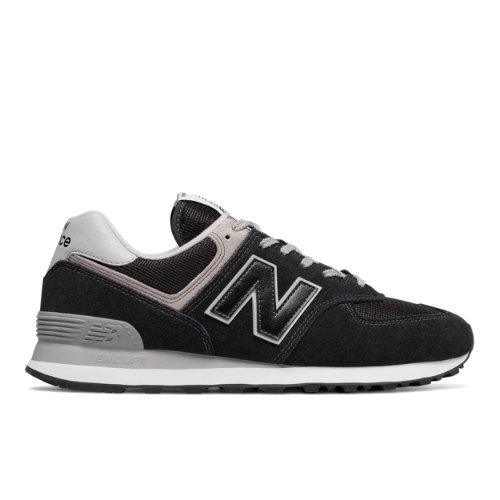 New Balance 574 Core Men's Lifestyle Shoes - Black (ML574EGK)