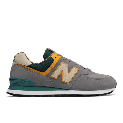 New Balance 574 Hi-Viz Men's Sneakers Shoes - Grey (ML574HVE)