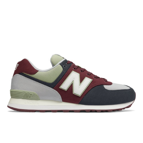 New Balance 574 Men's Shoes - Red / Navy (ML574INE)