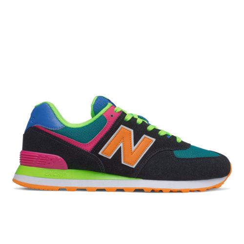 New Balance 574 Men's Running Classics Shoes - Black / Green ...