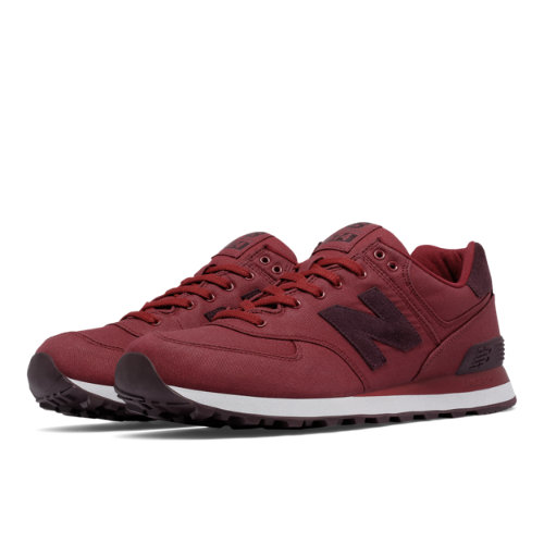 New Balance 574 Waxed Canvas Men's 574 Shoes - Red (ML574MDA)