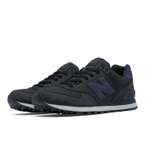 New Balance 574 Waxed Canvas Men's 574 Shoes - Black / Grey (ML574MDC)