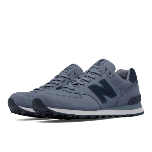 New Balance 574 Waxed Canvas Men's 574 Shoes - Blue (ML574MDD)