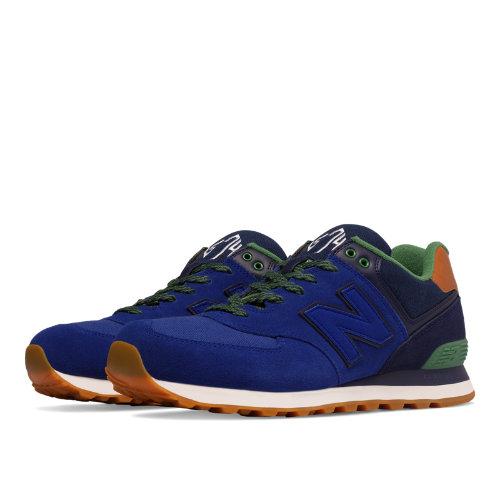 New Balance 574 Collegiate Men's Shoes - Blue / Navy / Green (ML574NEA)