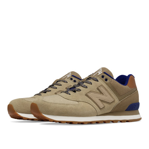 New Balance 574 Collegiate Men's 574 Shoes - Linseed / Dust / Basin (ML574NED)