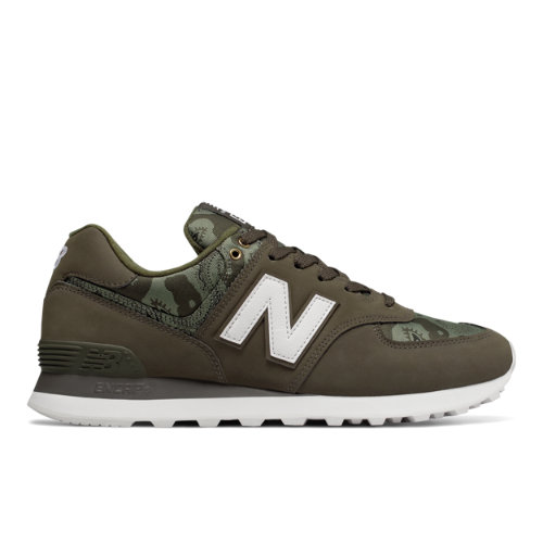 New Balance 574 Paisley Camouflage Men's Shoes - Military Green (ML574PAA)