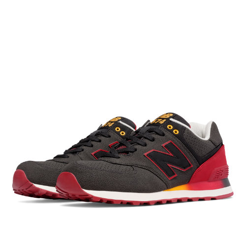 New Balance 574 Gradient Men's 574 Shoes - Black / Red (ML574RAA)