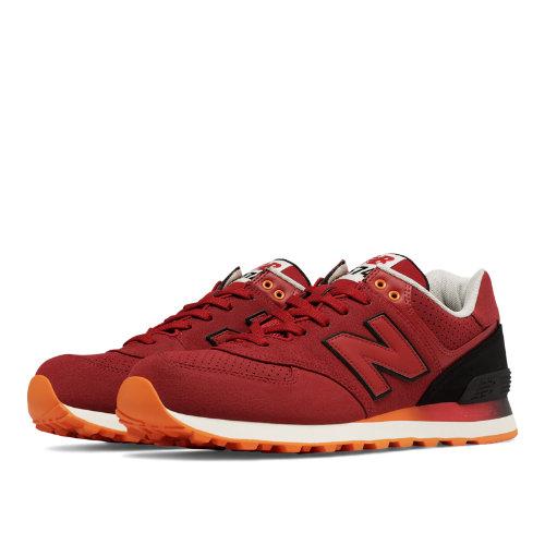 New Balance 574 Gradient Men's 574 Shoes - Red / Black / Orange (ML574RAB)