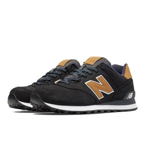 New Balance 574 Lux Men's 574 Shoes - Black / Tan (ML574SLA)