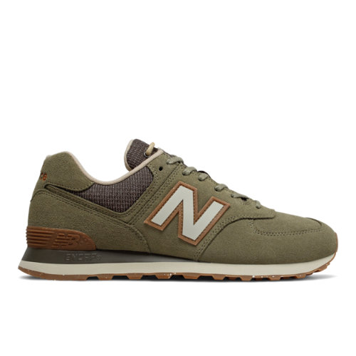 New Balance 574 Premium Outdoors Men's Running Classics Shoes - Green (ML574SOJ)