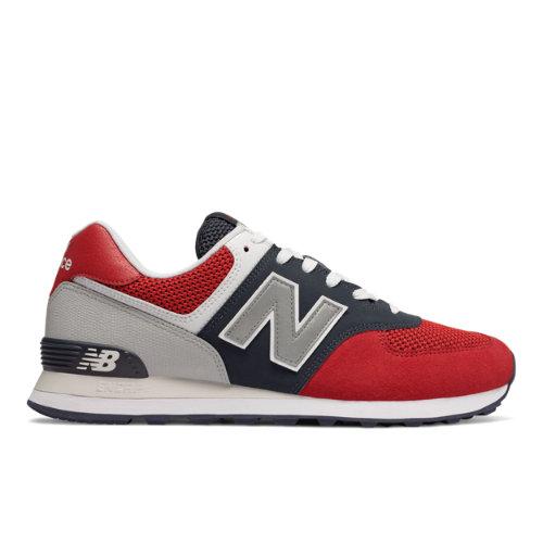 New Balance 574 Pebbled Sport Men's Shoes - Red (ML574SRF)