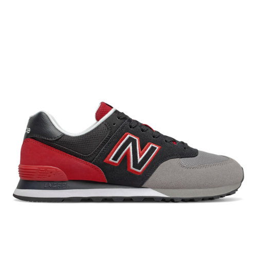 New Balance 574 Men's Lifestyle Shoes - Black / Red (ML574UPX)