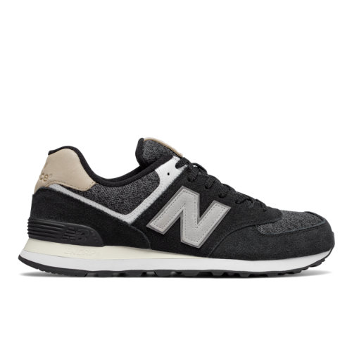 New Balance 574 Classic Men's Sneakers Shoes - Black / Off White (ML574VAI)
