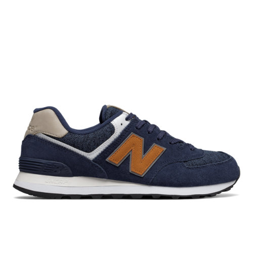 New Balance 574 Classic Men's Sneakers Shoes - Navy / Brown (ML574VAK)