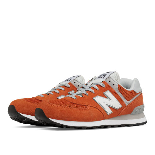 pretty nice 94e3c 97819 New Balance 574 Classic Men's 574 Shoes - Orange / White ...
