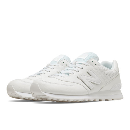 New Balance 574 Leather Men's 574 Shoes - White (ML574WEX)