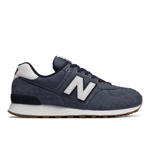 New Balance 574 Beach Chambray Men's 574 Shoes - Vintage Indigo / White (ML574YLE)