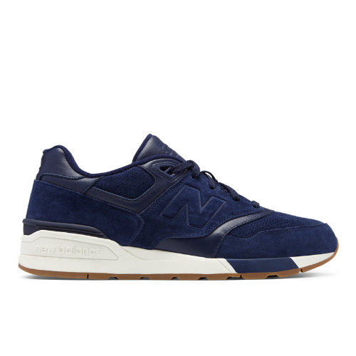 New Balance Suede 597 Men's Running Classics Shoes - Navy / Off White (ML597SKF)