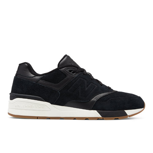 New Balance Suede 597 Men's Running Classics Shoes - Black / Off White (ML597SKG)