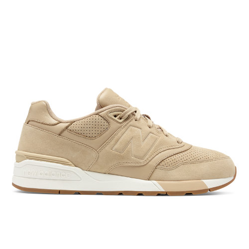 New Balance Suede 597 Men's Running Classics Shoes - Tan / Off White (ML597SKH)